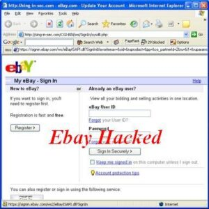 eBay phishing page Free Download